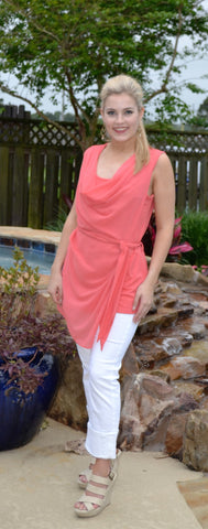 """Sassy in Salmon"" top"