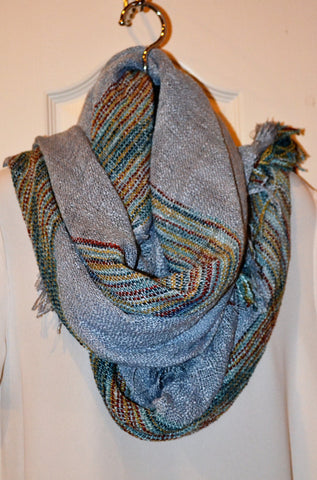Blanket scarf in Beige or Chambray