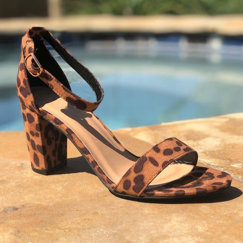 Striking Leopard Heel