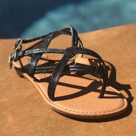 Strappy Blacklizard Sandal