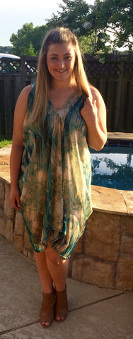 Flowy Feathers Dress (XL available)