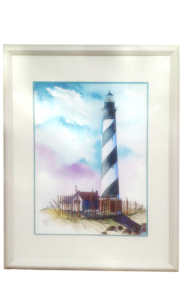 The Cape Hatteras Lighthouse - Terry Madden Original Watercolor