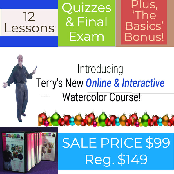 Terry Madden's Online Interactive Watercolor Course - 12 Lessons!