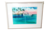 Sailboat in Tropics - Terry Madden Original Watercolor
