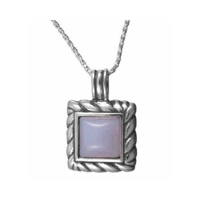 Sterling Silver Square Lace Pendant