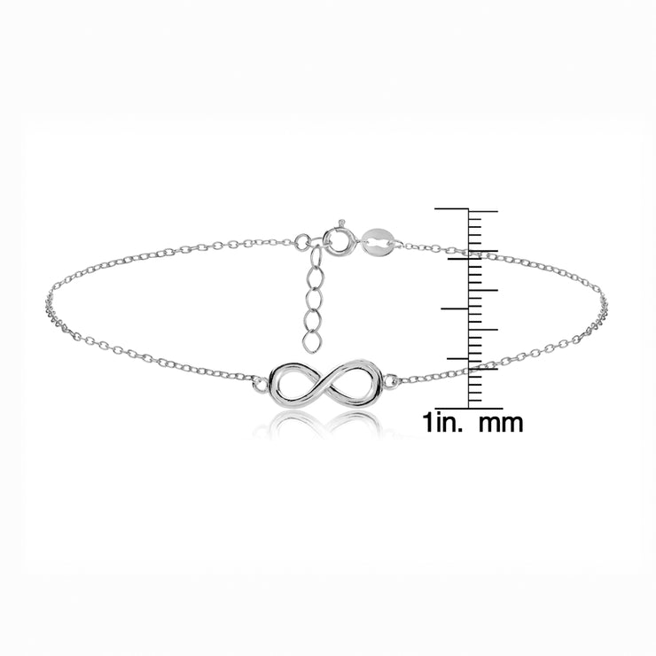 Sterling Silver Infinity Chain Anklet