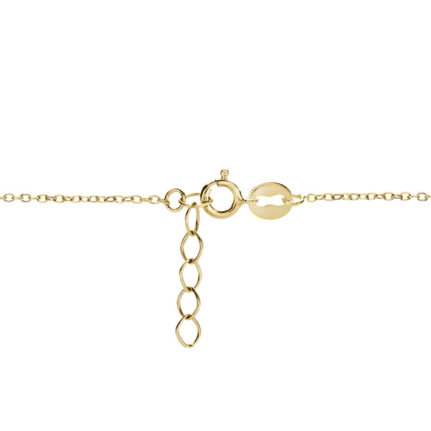 Gold Tone over Sterling Silver Infinity Chain Anklet