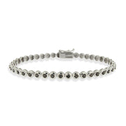 Sterling Silver Black Diamond Accent Classic Tennis Bracelet