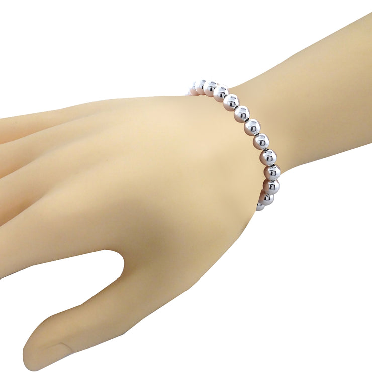 Sterling Silver Bead Adjustable Bracelet