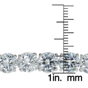 Sterling Silver 9mm Round Cubic  Zirconia Tennis Bracelet