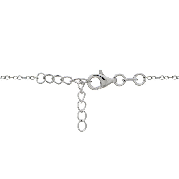 Sterling Silver Nano Created Turquoise Infinity Chain Bracelet