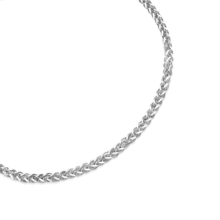 Sterling Silver 1.5mm Spiga Chain Bracelet, 7 Inches