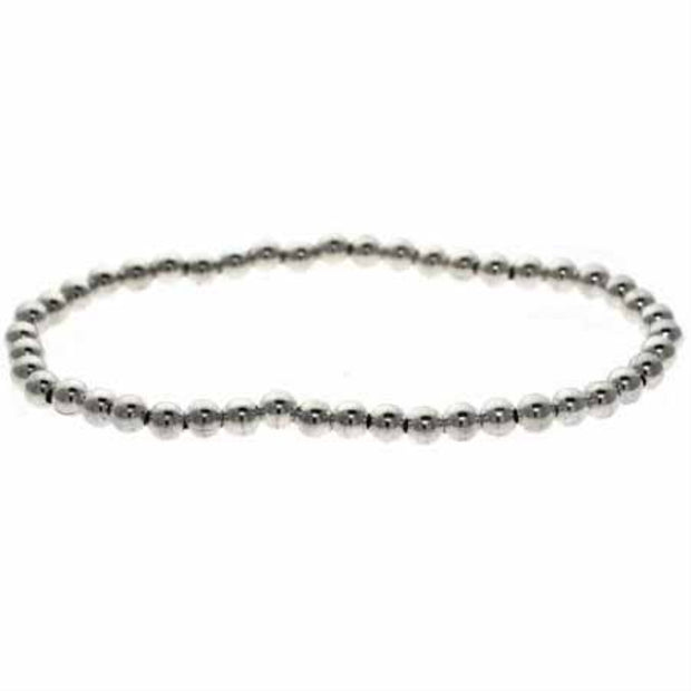 Sterling Silver Beaded Stretch Bracelet