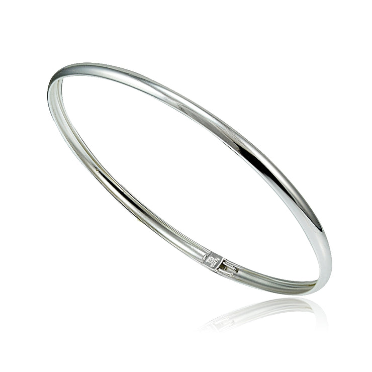Sterling Silver Polished Children's Bangle Bracelet