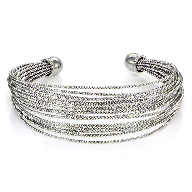 Stainless Steel Rope Cuff Bracelet