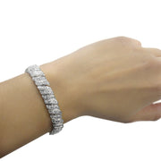 1ct Diamond Wave Link Tennis Bracelet