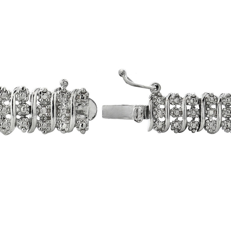 1 ct tdw Diamond S Pattern Tennis Bracelet