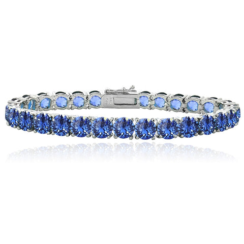 Blue Swarovski Elements Tennis Bracelet