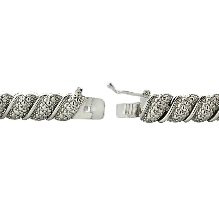 1.00ct TDW Diamond Fancy Tennis Bracelet