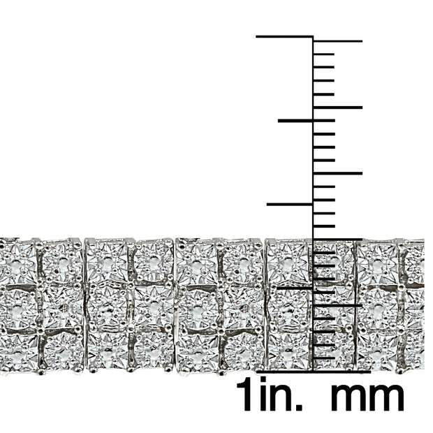 1 ct 3-Row Diamond Tennis Bracelet