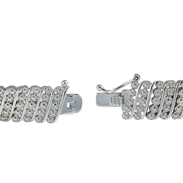 2 ct tdw Diamond Wave Tennis Bracelet