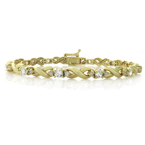 18K Gold Plated 2.5ct CZ Infinity Bracelet