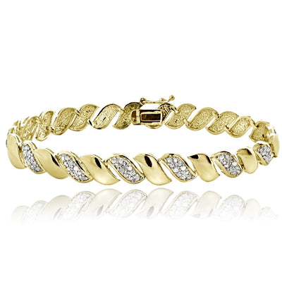 Gold Tone 0.50ct Diamond San Marco Tennis Bracelet