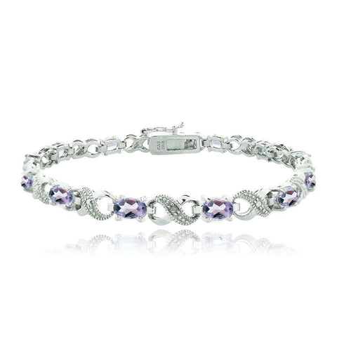 5.25ct Amethyst & Diamond Accent Infinity Bracelet