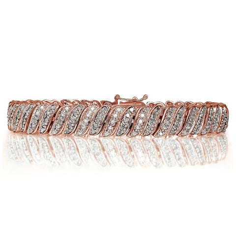 Rose Gold Tone 1.00ct Diamond Tennis Bracelet