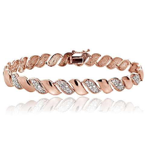 Rose Gold Tone 0.50ct Diamond San Marco Tennis Bracelet