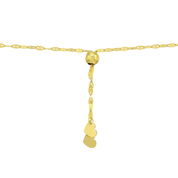 14K Gold Chain Mariner Italian Adjustable Bracelet