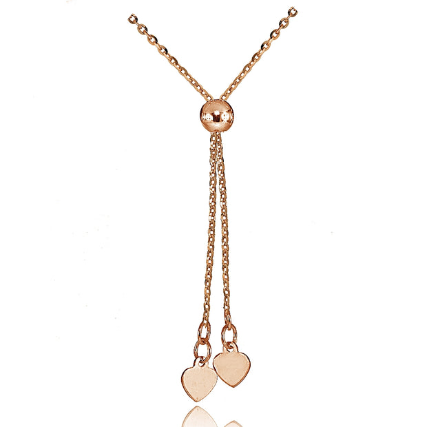 14K Rose Gold 1.4mm Diamond-Cut Cable Adjustable Italian Chain Bracelet, 7-9 Inches