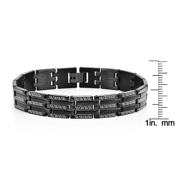 Black Stainles Steel Link Fashion Mens Bracelet