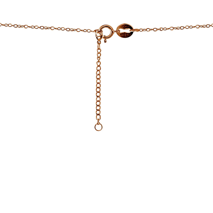 Rose Gold Flashed Stainless Steel Chain Link Extender for Pendant Necklace Bracelet Anklet, 3 Inches