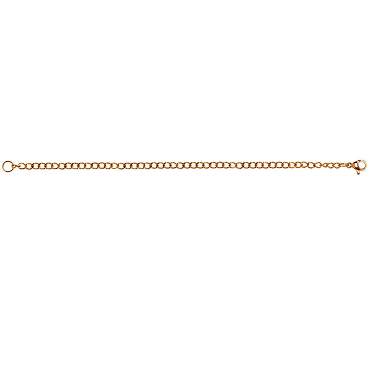 Rose Gold Flashed Stainless Steel Chain Link Extender for Pendant Necklace Bracelet Anklet, 6 Inches