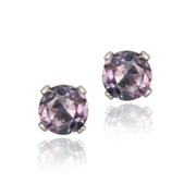 Sterling Silver 4/5ct Amethyst Stud Earrings, 5mm