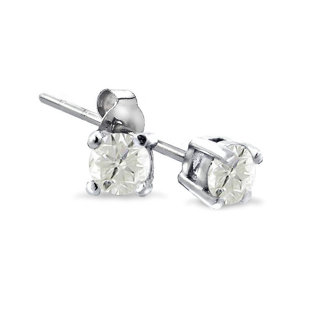 Sterling Silver 1/4 ct Diamond Stud Earrings, J-K,I3