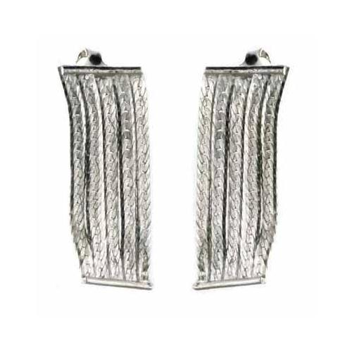 Sterling Silver 5 Row Dangle Chandelier Earrings