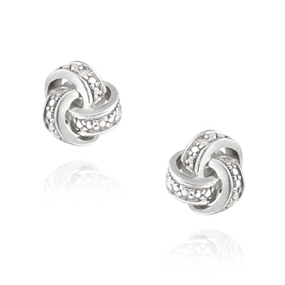 Diamond Accent Love Knot Earrings