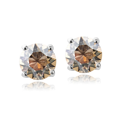 Swarovski Elements Golden Shadow November Birthstone Stud Earrings