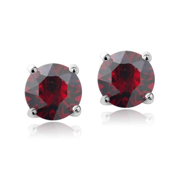 Swarovski Elements Garnet January Birthstone Stud Earrings