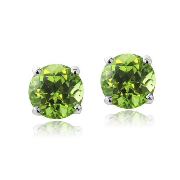 Swarovski Elements Peridot August Birthstone Stud Earrings