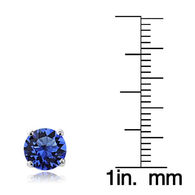 Swarovski Elements Sapphire September Birthstone Stud Earrings