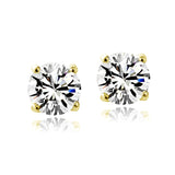 Swarovski Elements April Birthstone Stud Earrings in Gold Tone