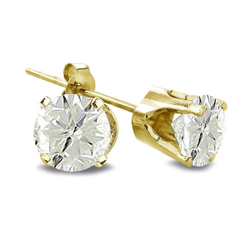 2/5 ct Round Diamond 14K Yellow Gold Earrings, J-K, I3