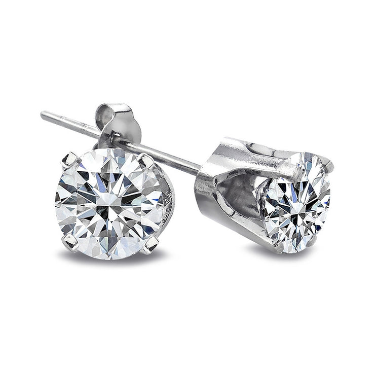 1/3 Ct Round Cut 14K White Gold Diamond Stud Earrings