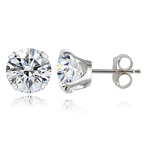 14K White Gold 1ct Stud Earrings Made with Swarovski Zirconia