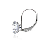 14K White Gold 2.50 CTTW Cubic Zirconia Round Leverback Earring, 7mm