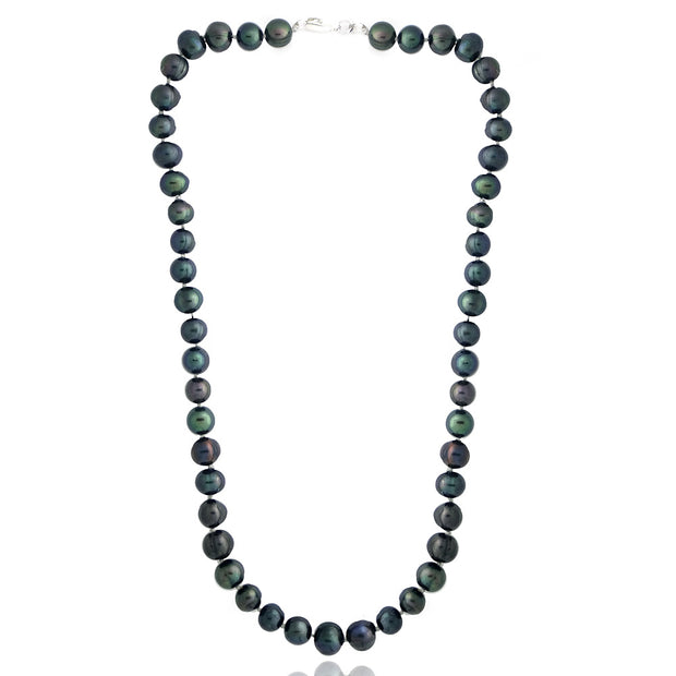 Peacock Freshwater Cultured 8-9mm Pearls Necklace, 18""