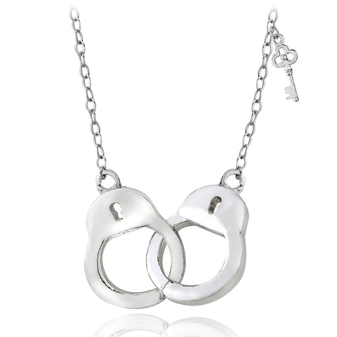 Sterling Silver Polished Handcuff Necklace